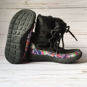 Nike Shoes - Nike Roshe One Hi Print PSV Black Multicolor Kids